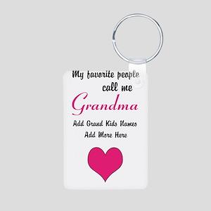 Grandma Personalized Aluminum Photo Keychain