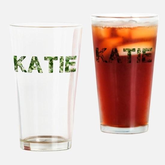Katie, Vintage Camo, Drinking Glass