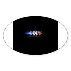 New COPS Logo Sticker (Oval)