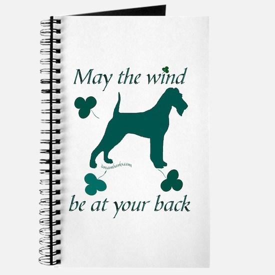 Irish Terrier and Shamrocks Journal