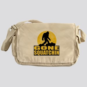 Gone Squatchin - Bark at the Moon Messenger Bag