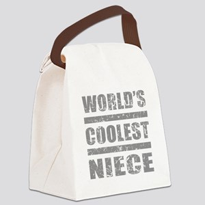 World's Coolest Niece Canvas Lunch Bag