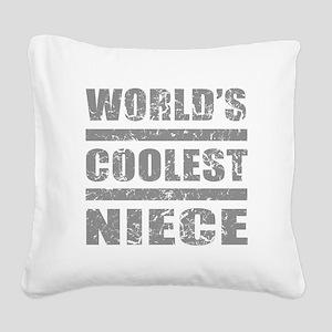 World's Coolest Niece Square Canvas Pillow