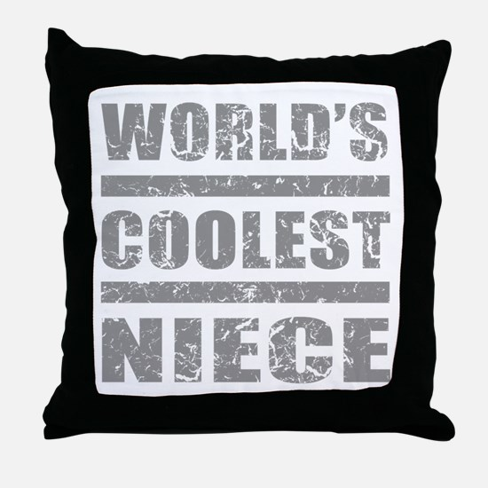 World's Coolest Niece Throw Pillow