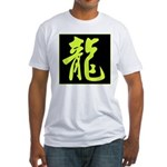 Dragon Calligraphy Fitted T-Shirt