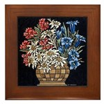 Edelweiss Bouquet Framed Tile