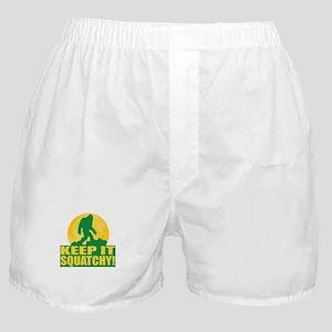 Keep It Squatchy! - Bark at the Moon Boxer Shorts