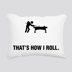 Billiard / Pool Rectangular Canvas Pillow