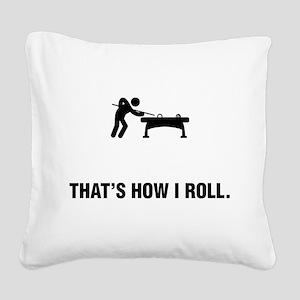 Billiard / Pool Square Canvas Pillow