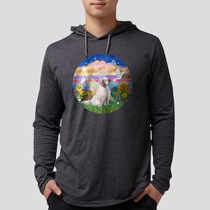 R-AutumnAngel-ClumberSpaniel Mens Hooded Shirt