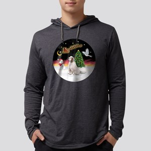 R-NightFlight-ClumberSpaniel Mens Hooded Shirt