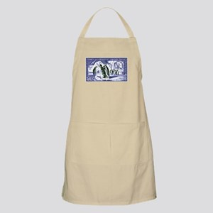 1956 French Antarctic Adelie Penguins Stamp Apron