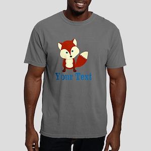 Personalizable Red Fox Mens Comfort Colors Shirt