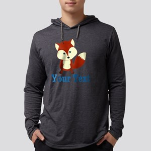 Personalizable Red Fox Mens Hooded Shirt