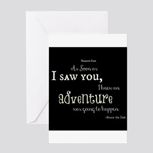 As soon as I saw you: Adventure Greeting Card
