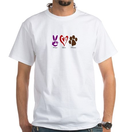 PeaceLoveDogsBumper T-Shirt