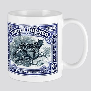 1931 North Borneo Clouded Leopard Stamp Mug