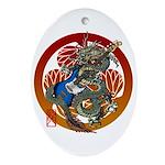 Dragon Bass 02 Ornament (Oval)