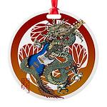 Dragon Bass 02 Round Ornament