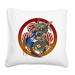 Dragon Bass 02 Square Canvas Pillow