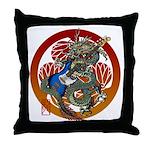 Dragon Bass 02 Throw Pillow