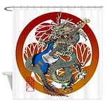 Dragon Bass 02 Shower Curtain