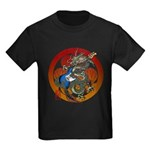 Dragon Bass 02 Kids Dark T-Shirt