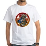 Dragon Bass 02 White T-Shirt