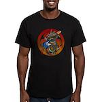 Dragon Bass 02 Men's Fitted T-Shirt (dark)
