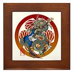 Dragon Bass 02 Framed Tile