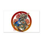 Dragon Bass 02 Rectangle Car Magnet
