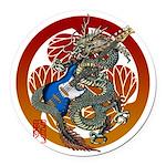 Dragon Bass 02 Round Car Magnet