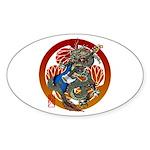 Dragon Bass 02 Sticker (Oval)
