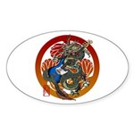 Dragon Bass 02 Sticker (Oval 10 pk)