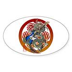 Dragon Bass 02 Sticker (Oval 50 pk)