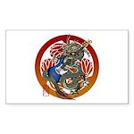 Dragon Bass 02 Sticker (Rectangle)