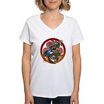 Dragon Bass 02 Women's V-Neck T-Shirt
