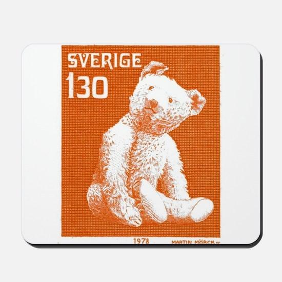 1978 Sweden Teddy Bear Postage Stamp Mousepad