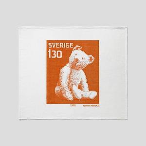 1978 Sweden Teddy Bear Postage Stamp Stadium Blan