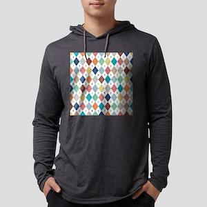 Argyle Mulit 2 Mens Hooded Shirt