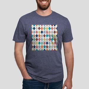 Argyle Mulit 2 Mens Tri-blend T-Shirt