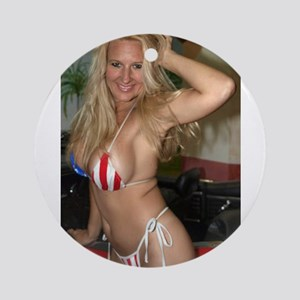 HeidiRae USA Bikini Swimwear Ornament (Round)