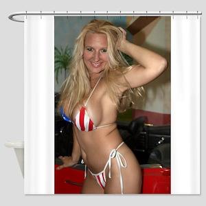 HeidiRae USA Bikini Swimwear Shower Curtain