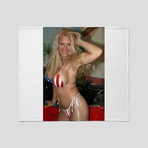 HeidiRae USA Bikini Swimwear Throw Blanket