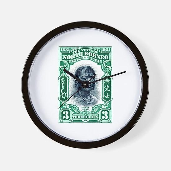 1931 North Borneo Headhunter Postage Stamp Wall Cl