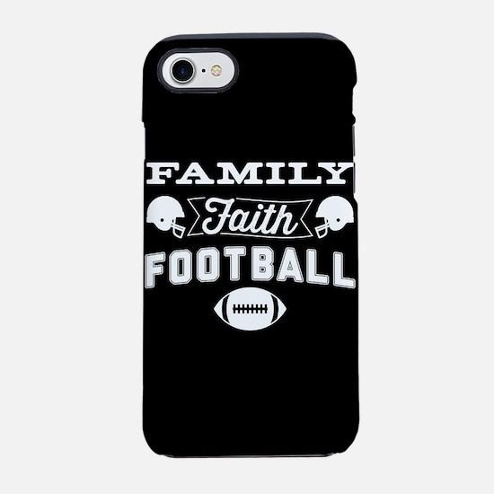 Family Faith Football iPhone 7 Tough Case