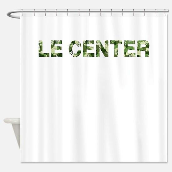 Le Center, Vintage Camo, Shower Curtain