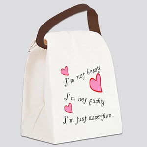 Just assertive Canvas Lunch Bag