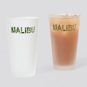 Malibu, Vintage Camo, Drinking Glass