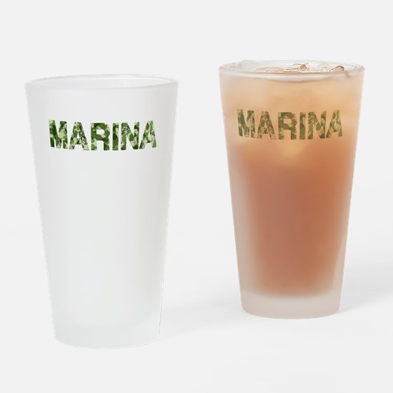 Marina, Vintage Camo, Drinking Glass